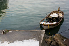 Fishing boat in the waters of sea Royalty Free Stock Image