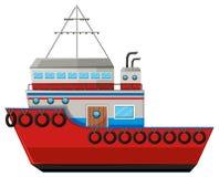 Fishing boat on white background Royalty Free Stock Images