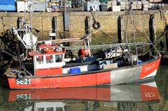 Fishing Boat in Whitstable Harbour Royalty Free Stock Photo