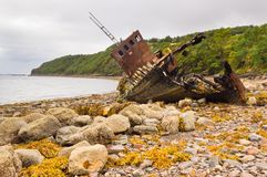 Fishing boat wreck Royalty Free Stock Images