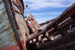 Fishing boat wrecks Royalty Free Stock Photo