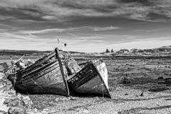 Fishing boat wrecks Royalty Free Stock Images