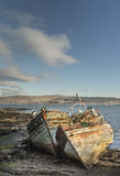 Fishing boat wrecks at Salen on the Isle of Mull. Fishing boat wrecks at Salen on the Isle of Mull in Scotland Royalty Free Stock Photography