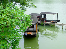 Fishing boat in Wuzhen China Stock Image