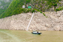 Fishing boat on the Yangtze River Royalty Free Stock Photo