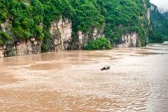 Fishing boat on the Yangtze River Stock Photos