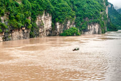 Fishing boat on the Yangtze River in China Royalty Free Stock Images