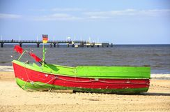 Fishing Boaton the island of Usedom, Germany Stock Photos