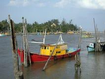 Fishing boats 1. Fishing boats, Malaysia royalty free stock photos