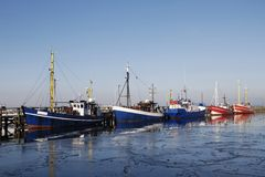 Fishing boats. Some fishing boats at the mole in Warnemünde Stock Image