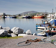 Fishing Boats. Moored in a Harbour in North West Ireland Stock Photos