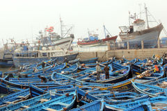 Fishing boats. In Morocco Essaouira stock image