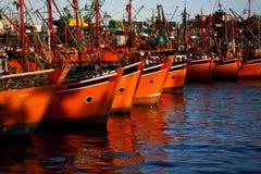 Fishing Boats. At Mar del Plata's harbor Stock Photo