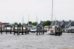 Fishing boats. In harbor Toms River New Jersey Royalty Free Stock Photography