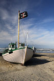 Fishing boats. That are pulled ashore Stock Images