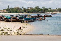 Fishing Boats. Close to Dar es Salaam Stock Image