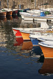 Fishing boats. A group of fishing boats in the port of San Sebastian, Spain Stock Photography