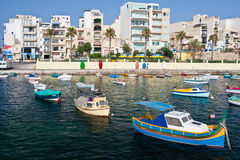 Fishing boats. On the Mediterranean island Stock Images