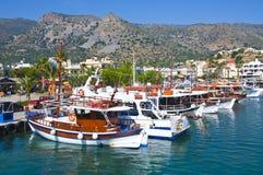 Ships in sea port. Of Crete, Greece Stock Image