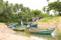 Fishing Boats. Small fishing boat.Moored in the canal royalty free stock image