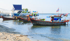 Fishing boats. In bangsaen beach Thailand Stock Image