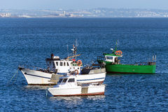Bay with fishing boats Stock Image