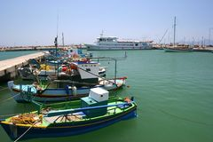 Fishing boats. A fishing boat habour Royalty Free Stock Photo