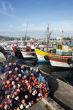 Fishing Boats. Moored at Arraial do Cabo's harbor. Rio de Janeiro, Brazil Royalty Free Stock Images