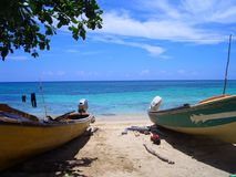 Fishing Boats. This Photograph was taken just North of Montego Bay, Jamaica, West Indies, Caribbean royalty free stock photography