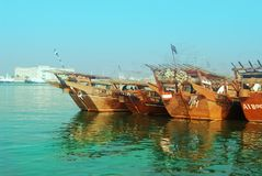 Fishing boats. In Sharjah Stock Images