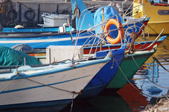 Fishing boats in Acre port Israel Royalty Free Stock Image