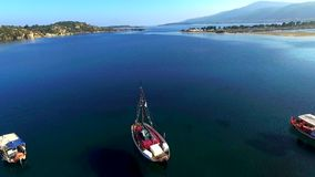 Fishing boats stock footage