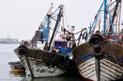 Fishing Boats in Agadir Harbour, Morocco Stock Image