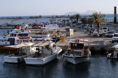 Fishing boats in Agia Galini Royalty Free Stock Image