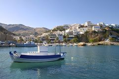 Fishing boats in Agia Galini Royalty Free Stock Photos