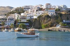 Fishing boats in Agia Galini Royalty Free Stock Photography