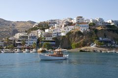 Fishing boats in Agia Galini Stock Photography