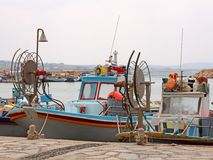 Fishing Boats in Agia Napa Stock Image