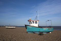 Fishing Boats on Aldeburgh Beach, Suffolk, England Royalty Free Stock Image