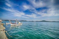 Fishing boats in Alibey Cunda Island Balikesir Turkey. Cunda Island, also called Alibey Island is Royalty Free Stock Photo