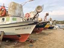 Fishing boats in Alibey Cunda Island Balikesir Turkey. Cunda Island, also called Alibey Island is Royalty Free Stock Photos