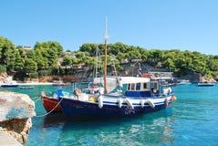 Fishing boats, Alonissos Royalty Free Stock Photo