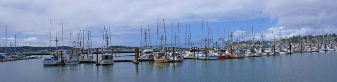 Fishing boats at anchor Royalty Free Stock Photography