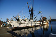 Fishing boats at anchor Royalty Free Stock Photos