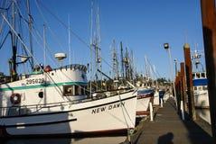 Fishing boats at anchor Stock Image