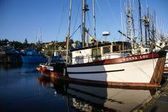 Fishing boats at anchor Royalty Free Stock Image