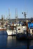 Fishing boats at anchor Stock Photos