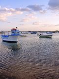Fishing boats anchored Royalty Free Stock Images
