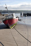 Fishing boats anchored in Youghal bay Stock Photo