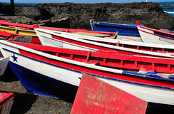Fishing boats as Salinas Stock Photography